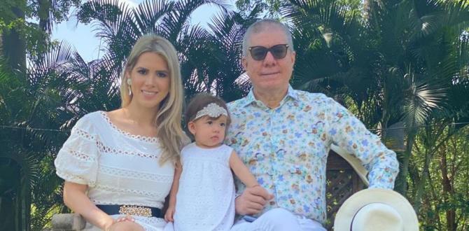 Vito Muñoz, junto a su esposa e hija.