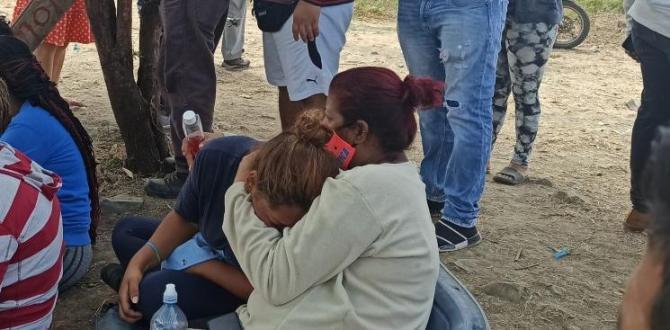 Desesperación en los familiares por la desaparición de las niñas.
