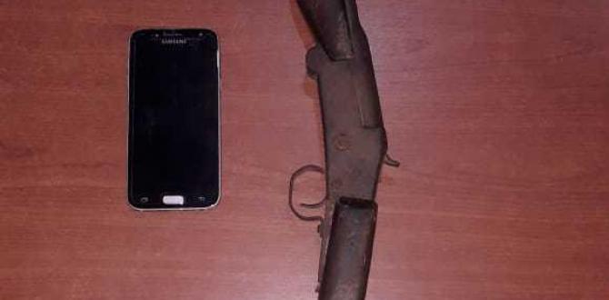 El celular y la escopeta son parte de las evidencias en este caso.