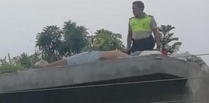 El cuerpo de  Édison Xavier quedó tendido en la loza de una casa.