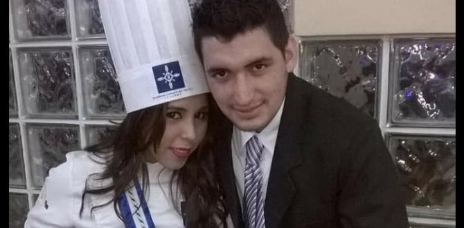 Carolina junto a su esposo.