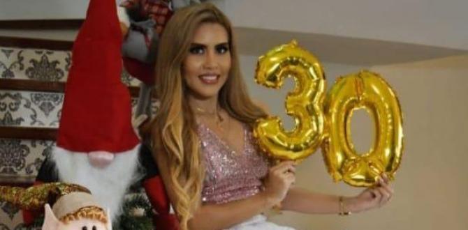 El 2 de diciembre pasado Lisbeth cumplió 30 años.