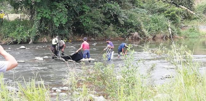 En el río Alamor hallaron el cuerpo de Manuel Guerrero.