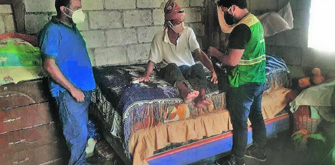 El salitreño José Ezequiel Ríos Arreaga tiene un tumor en la cabeza.