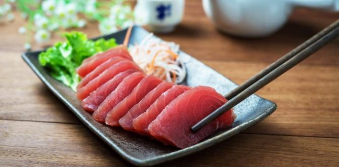 El sashimi es un plato japonés a base de pescado crudo.