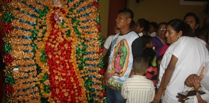 homenaje a Virgen de Guadalupe