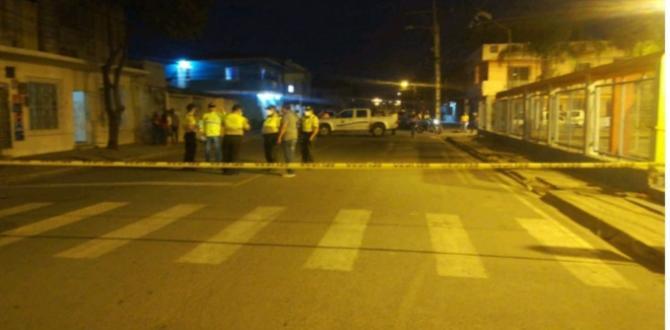 En este sector de Durán fue baleado Carlos Sarmiento.