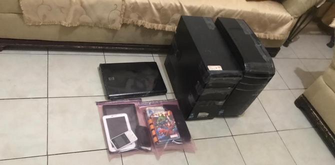 Entre los indicios encontrados a los detenidos hay: seis teléfonos celulares, una lapto, dos CPU, dos tablets, una memoria USB.