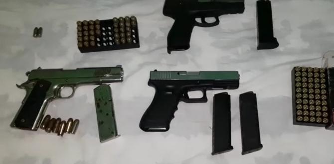 armas incautadas a Los Lagartos