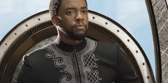 Chadwick Boseman, en su papel de Pantera Negra.