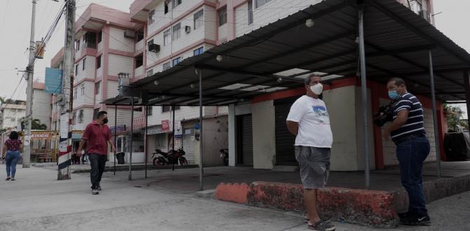 En este sector de Guayaquil fueron baleados los tres amigos.