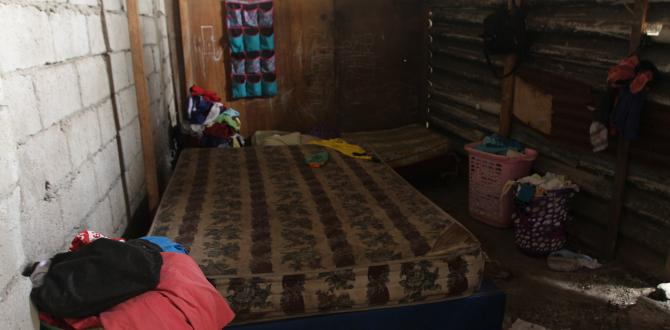Sobre este colchón fue hallado el cuerpo rígido de María Mercedes.