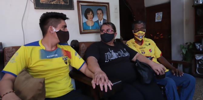 Flor Gordillo y su familia.