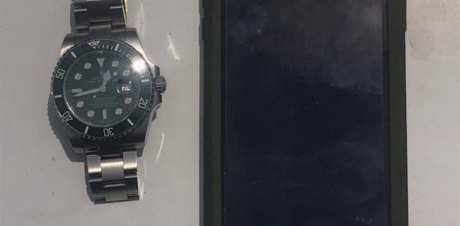El reloj y el celular del que fueron sustraídas al director del BSC.