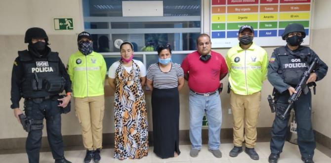 Los tres sospechosos fueron puestos a órdenes de las autoridades.