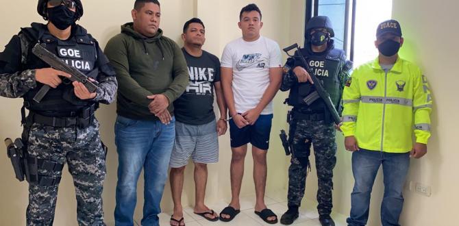 Tres de los cinco aprendidos fueron puestos a órdenes de las autoridades.