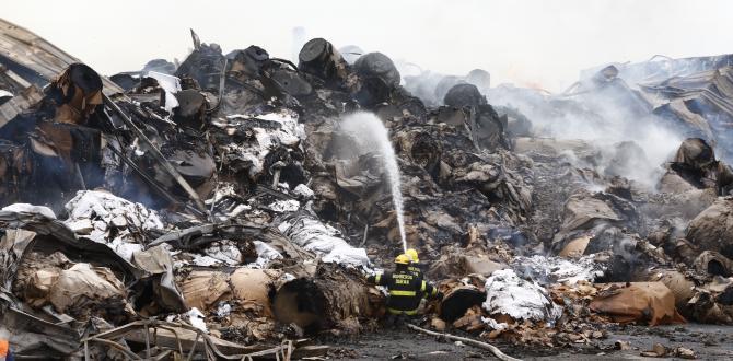 El incendio se originó la noche del lunes. Más 500 bomberos colaboraron para controlar las llamas.