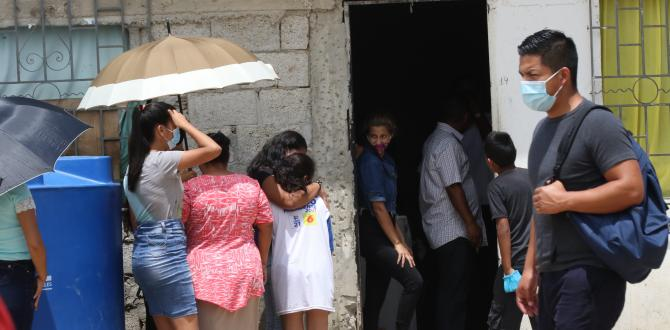 Familiares consternados por su deceso.