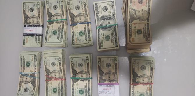 Veinte mil dólares se encontró en poder del los detenidos.