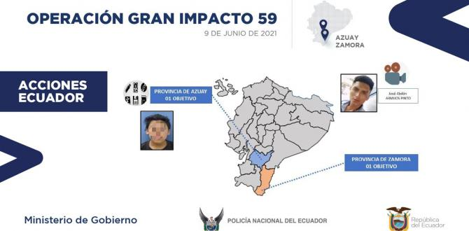 En Ecuador los sospechosos fueron capturados en Azuay Zamora Chinchipe.