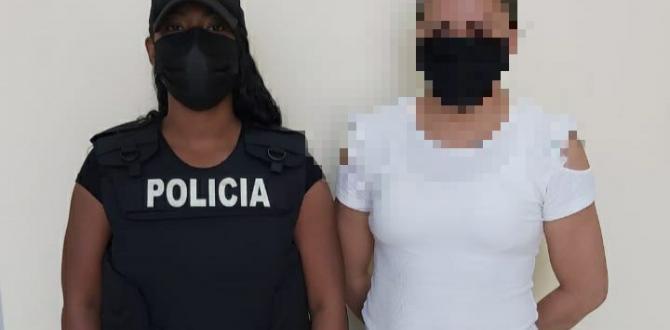 La mujer fue detenida en el norte Guayaquil.