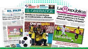 collage portadas diarios uruguay
