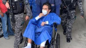 Daniel Salcedo permaneció un mes hospitalizado en Guayaquil, luego fue llevado a la cárcel de Quito.