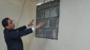 El fiscal Peña dijo que a pesar de los daños materiales se sigue atendiendo al público.