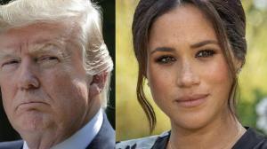 Trump anuncia que si Meghan pretender ser candidata presidencial, él también contenderá.