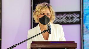 La alcaldesa de Guayaquil, Cynthia Viteri, se refirió a la Aerovía.