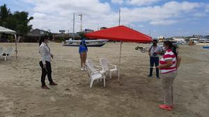 En Ayangue se muestra como se deben ubicar a los turistas