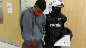 El presunto delincuente fue llevado a la Unidad de Flagrancia de la Fiscalía.