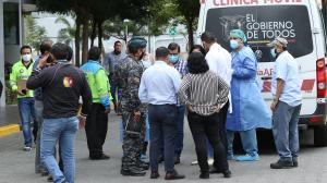 Daniel Salcedo fue llevado  en una ambulancia del Ministerio de Salud Pública. Policías del Grupo de Intervención y Rescate y de la Dirección General de Inteligencia custodiaron su traslado a la cárcel de la capital.