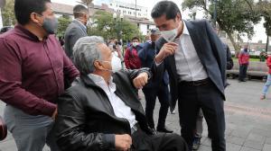 Presidente Lenín Moreno y ministro Richard Martínez