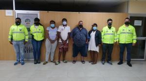 Los sospechosos fueron puestos a a órdenes de las autoridades.