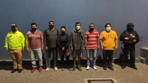 Los detenidos fueron puestos a órdenes de las autoridades.