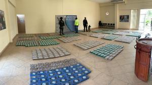Los 1.554 de cocaína estaban en sacos de yute.