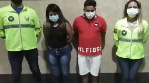 Juliana Yambay y Byron Vallejo fueron detenidos en Durán.