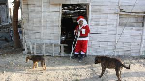 Papa Noel mendigo
