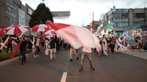 Hinchas de Liga de Quito salieron a las calles.