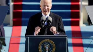 Joe Biden, en la posesión del poder como presidente de Estados Unidos.