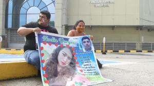 Los padres de Noelia  Selena, Pablo Vargas y Mayra Parrales no descansarán hasta que el asesino de su hija sea detenido.
