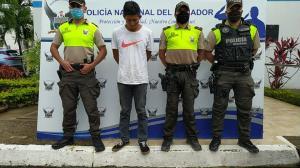 Uno de los presuntos responsables fue detenido por  la Policía.