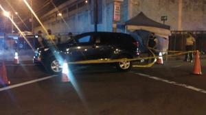 En este vehículo viajaba Adrián Calle cuando fue baleado.