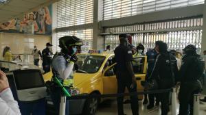 Se registró accidente de tránsito en el centro de Guayaquil.