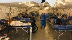 Hospital para pacientes covid-19.