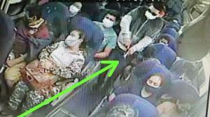 En la grabación se observa cuando el asesino se levanta, camina por el pasillo y le dispara a la guía.