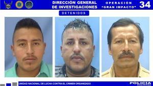 Los sospechosos son Martín David Franco Pico, Cristóbal Rafael Rodríguez Cedeño y José Honorato Figueroa Lucas.