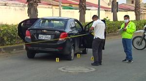 La mujer se movilizaba en este auto cuando fue secuestrada.