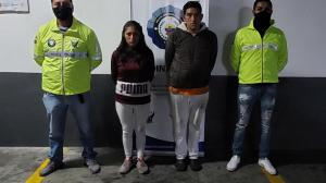 Agentes de la Dinased detuvieron a los presuntos responsables.